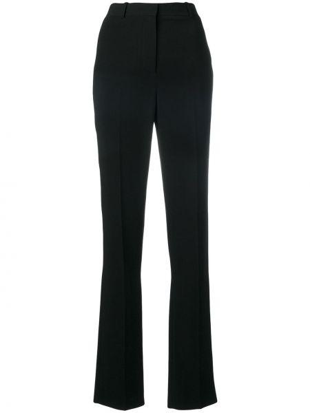 Spodnie z wysokim stanem z kieszeniami czarne Givenchy