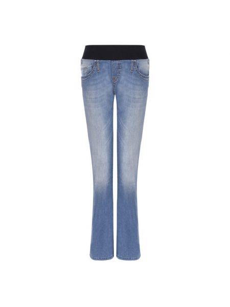 Укороченные джинсы расклешенные стрейч Pietro Brunelli