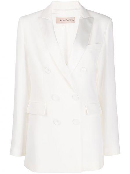 Biały garnitur z długimi rękawami Blanca Vita