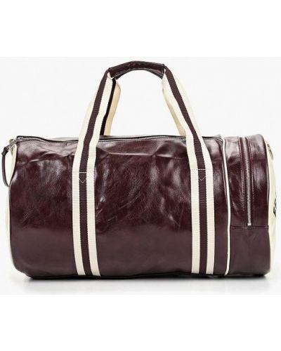 Спортивная сумка кожаная красная Fred Perry