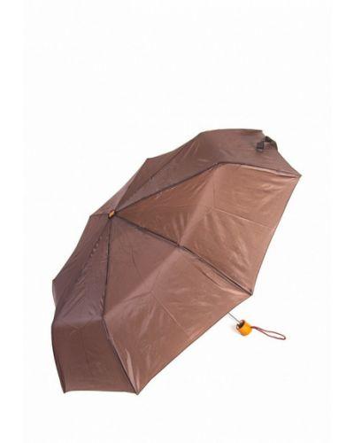 Коричневый зонт складной C-collection