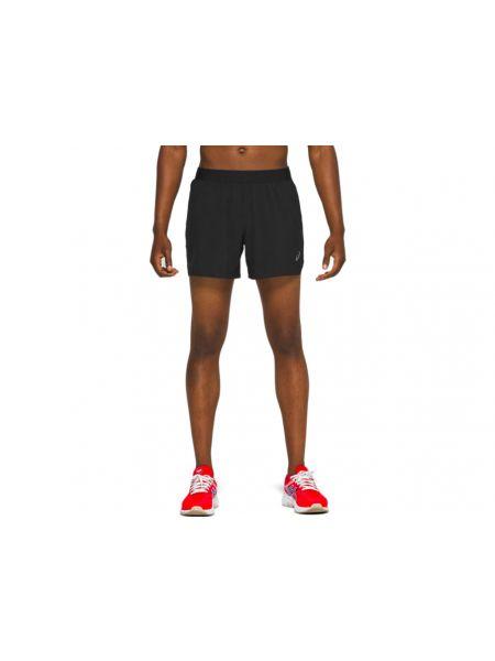 Спортивные черные короткие шорты свободного кроя с разрезом Asics