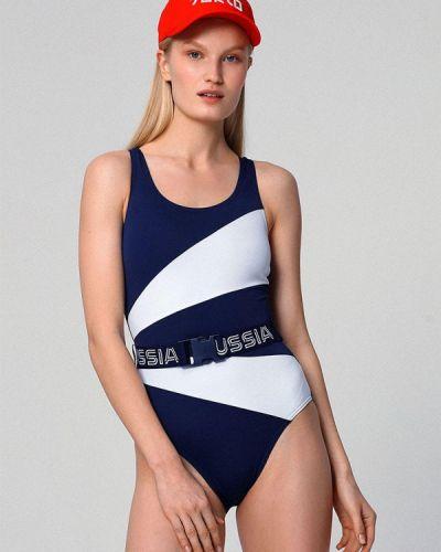 Слитный купальник - синий Zasport