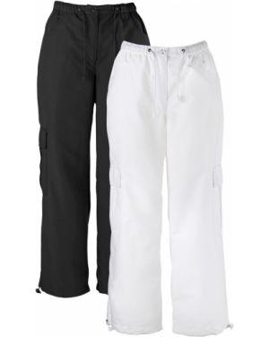 Кожаные брюки - черные Bonprix