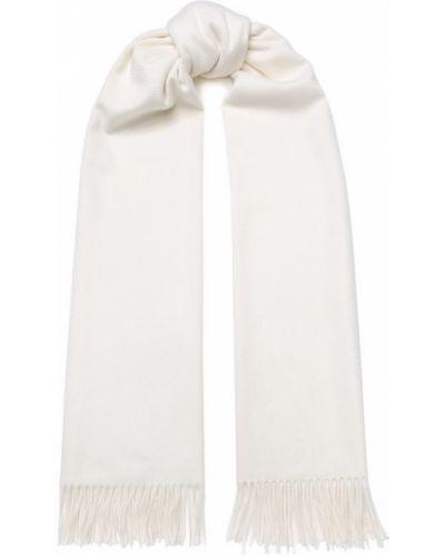 Белый шарф с бахромой Loro Piana