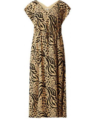 Sukienka rozkloszowana - beżowa Tom Tailor Denim