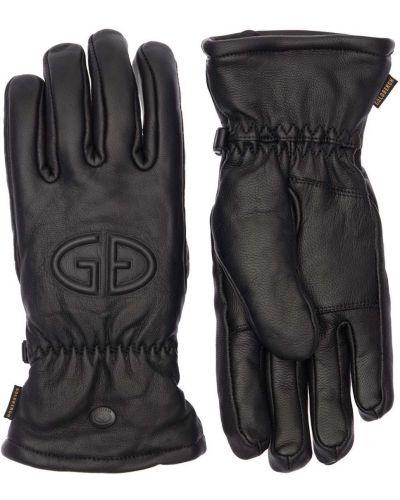 Кожаные перчатки - черные Goldbergh