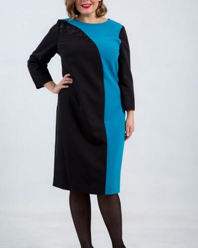 Платье с вышивкой - черное Petro Soroka