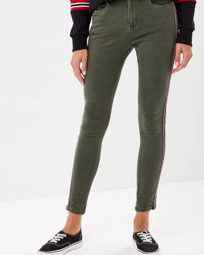 Зеленые джинсы-скинни Regular