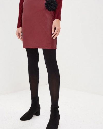 Кожаная юбка итальянский красный Perfect J