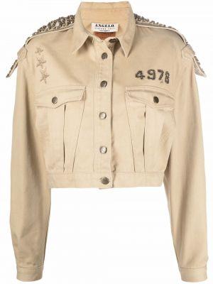 Бежевая длинная куртка милитари A.n.g.e.l.o. Vintage Cult