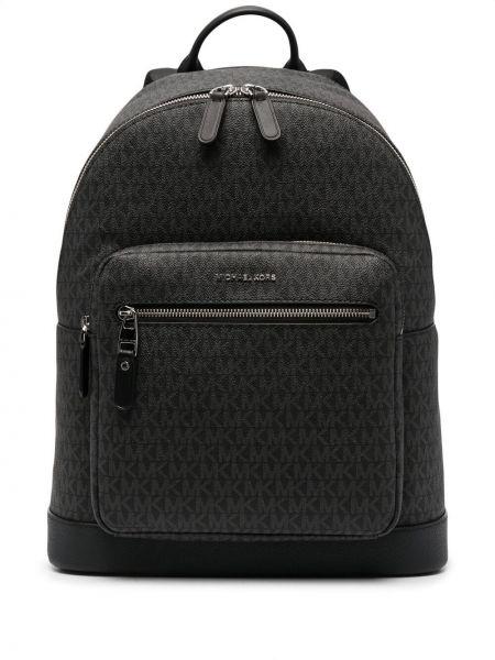 Черный кожаный рюкзак на молнии Michael Kors