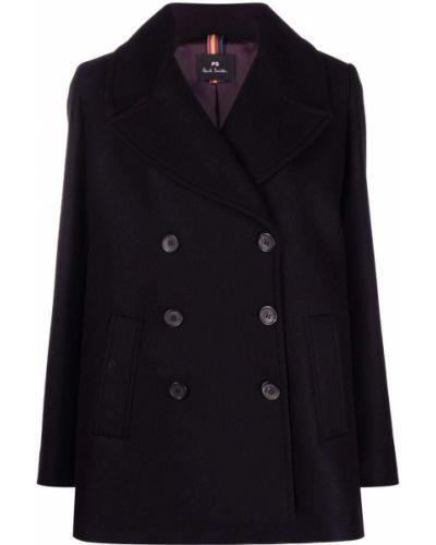 Черное кашемировое пальто Ps Paul Smith