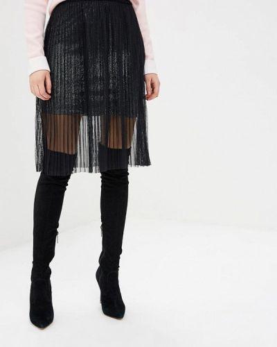 Плиссированная юбка черная Love Republic