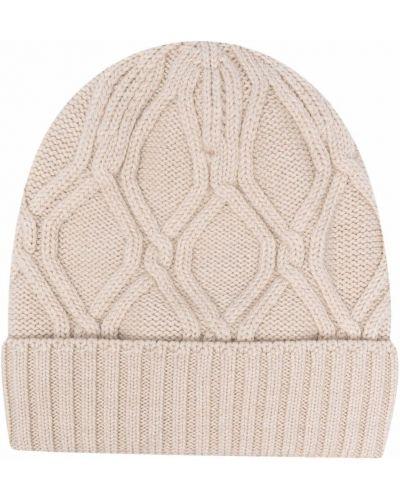 Beżowa czapka wełniana Lardini