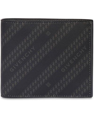 Brezentowy czarny portfel z gniazdem Givenchy