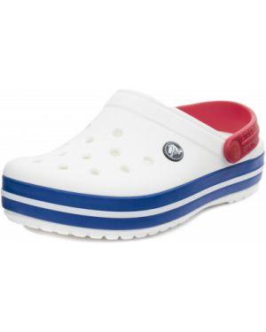 Пляжные шлепанцы белые для отдыха Crocs
