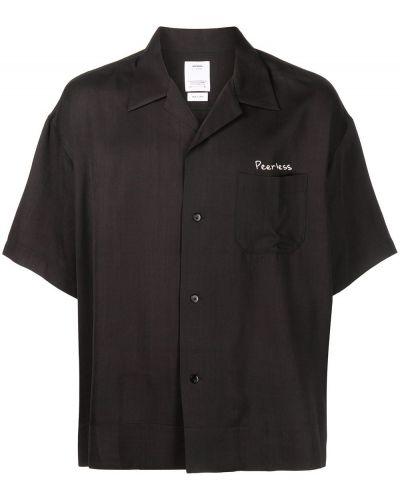 Czarna koszula z haftem Visvim