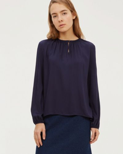 Блузка с длинным рукавом синяя базовый Base Forms