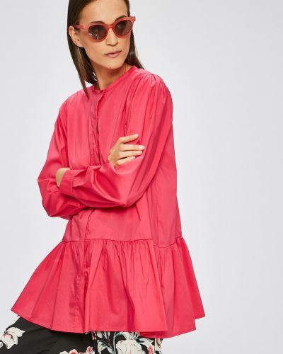 Розовая свободная блузка с оборками Answear