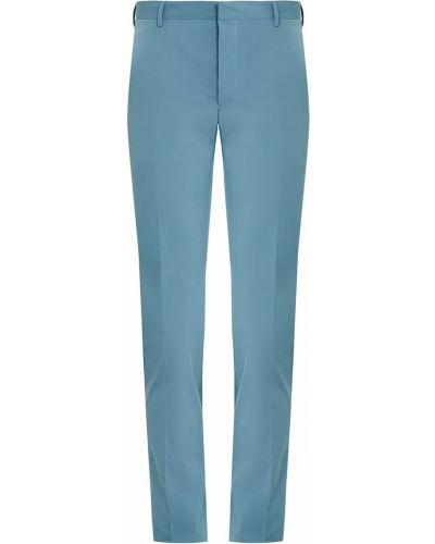 Зауженные брюки с карманами со стрелками Prada