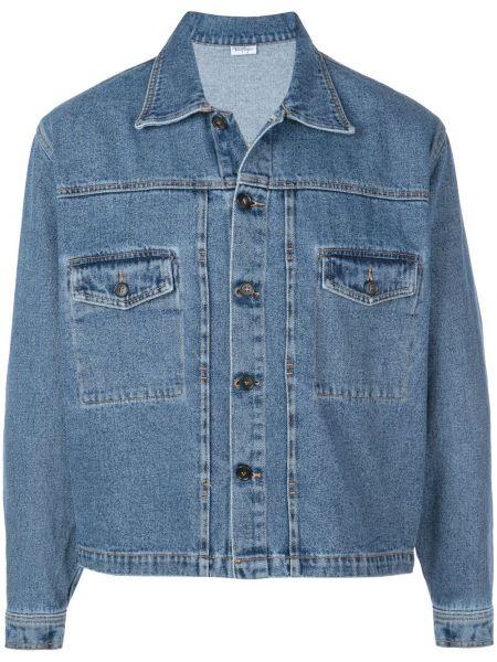 Синяя джинсовая куртка свободного кроя прозрачная Second/layer
