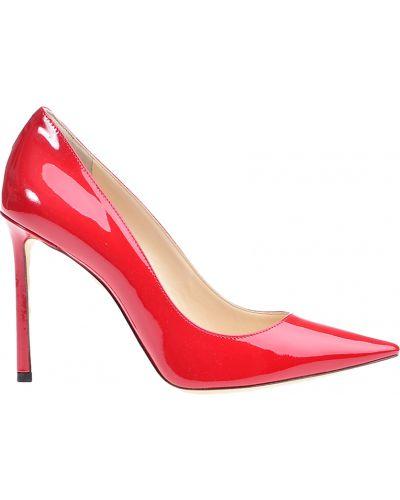 Кожаные туфли - красные Jimmy Choo