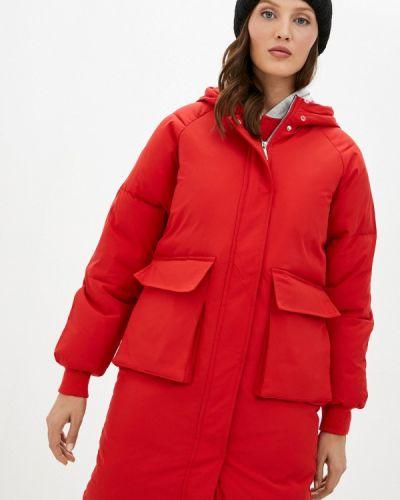 Теплая красная зимняя куртка Liana