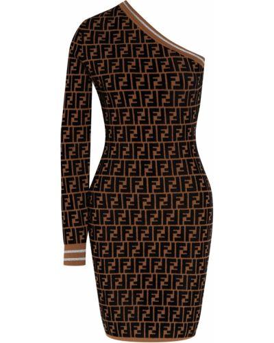 Платье мини облегающее с вырезом Fendi