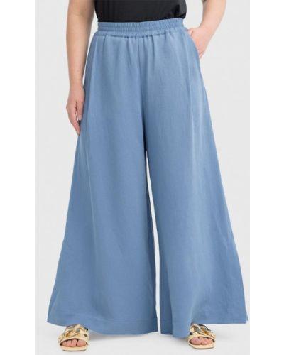Широкие брюки - голубые W&b