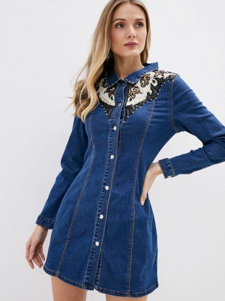 Джинсовое платье синее весеннее Glamorous