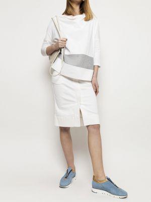 Niebieska spódnica materiałowa Deni Cler Milano