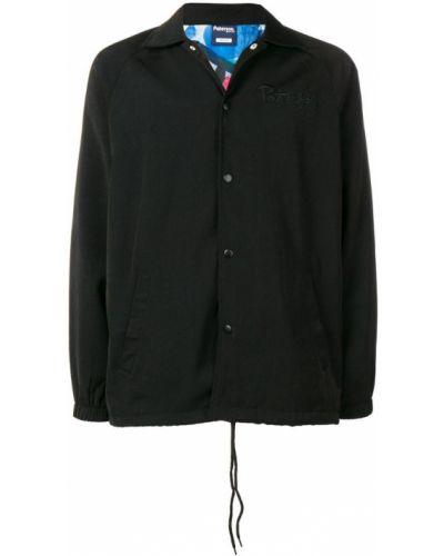Черная куртка с манжетами с вышивкой Paterson.