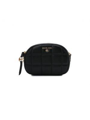 Черная кожаная сумка через плечо Michael Michael Kors