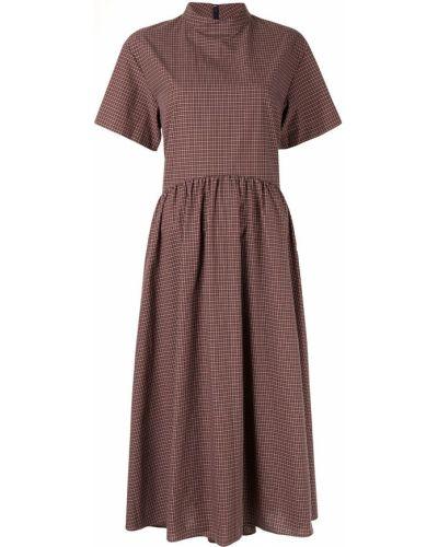 Коричневое с заниженной талией платье мини с воротником свободного кроя Le Ciel Bleu