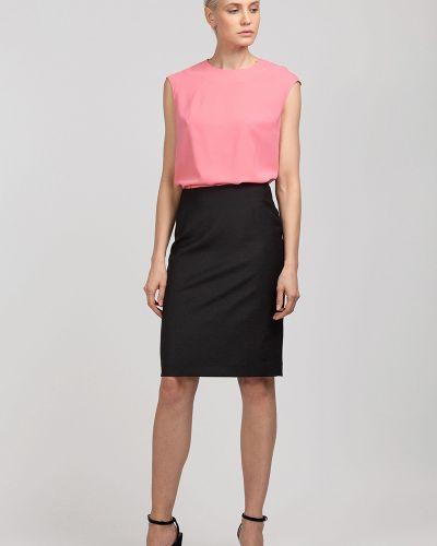 Блузка розовая из вискозы Vassa&co