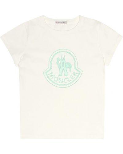 Классическая рубашка для полных белая Moncler Enfant