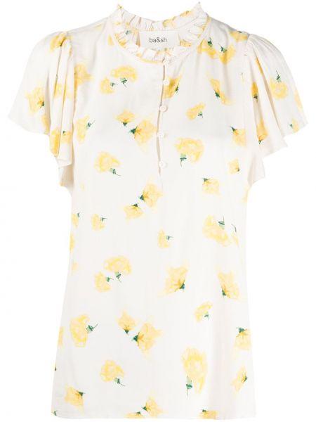С рукавами блузка со вставками из вискозы Ba&sh