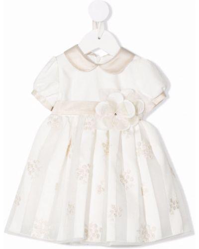 Biała sukienka wieczorowa w kwiaty Colorichiari