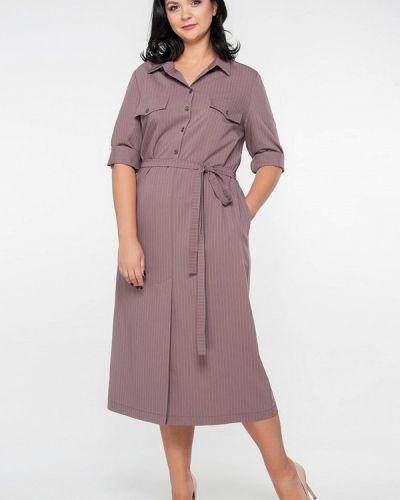 Платье миди розовое Лимонти