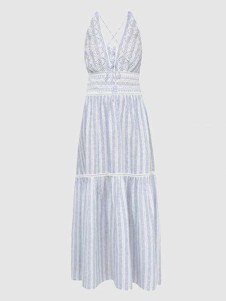 Льняное синее платье миди Ermanno Scervino