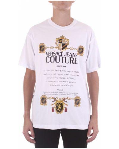 Z rękawami t-shirt Versace Jeans Couture