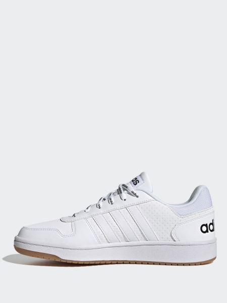 Кожаные белые низкие кеды на шнуровке Adidas