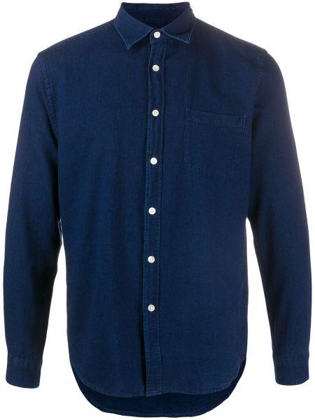 Синяя фланелевая рубашка узкого кроя на пуговицах Portuguese Flannel