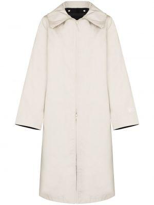 Бежевое пальто классическое с капюшоном с воротником Y-3
