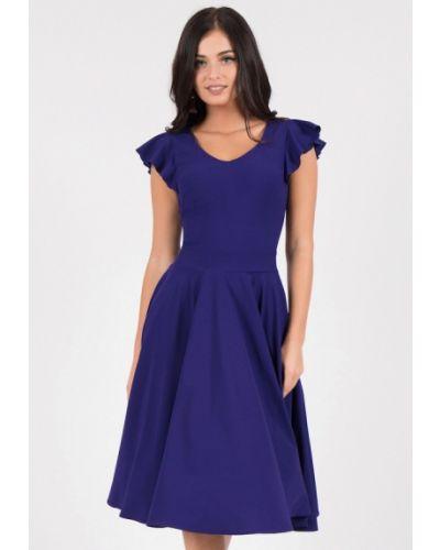 Вечернее платье осеннее синее Grey Cat
