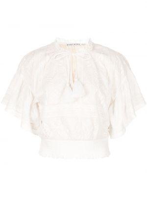Укороченная хлопковая блузка с вышивкой Alice+olivia