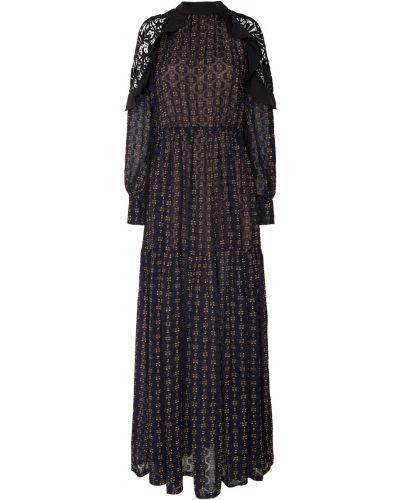 Платье макси со вставками с вырезом Self-portrait