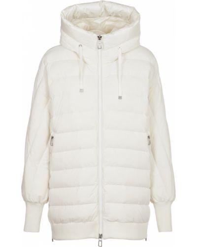 Biały płaszcz Duno