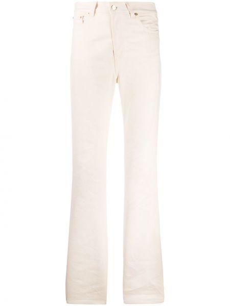 Хлопковые свободные прямые джинсы на пуговицах свободного кроя Jacquemus